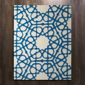 Rose Window Rug-Blue