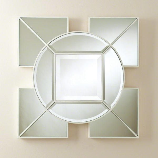 Arabesque Square Mirror-White