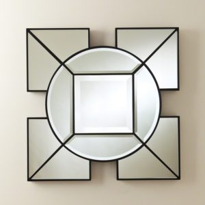 Arabesque Square Mirror-Black