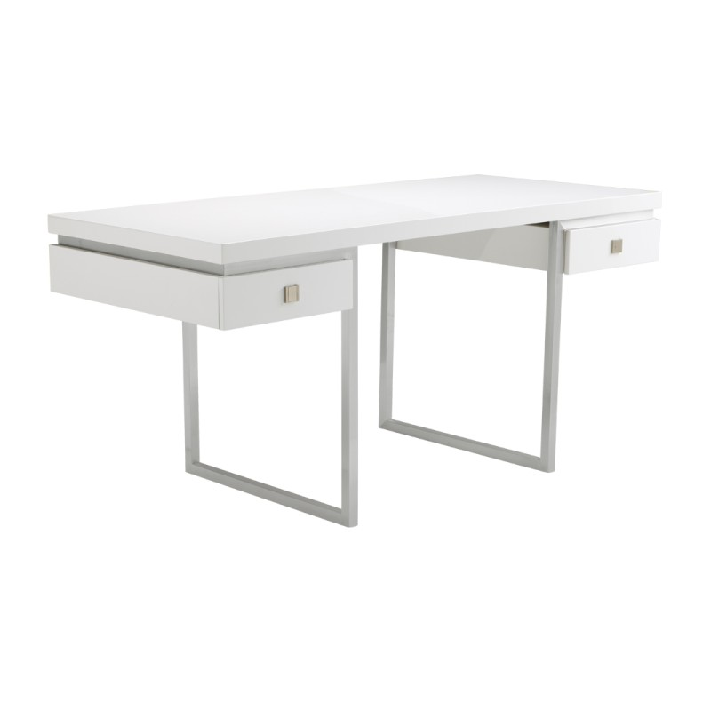Bentley Desk High Gloss White