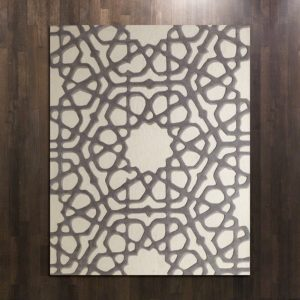 Rose Window Rug-Grey